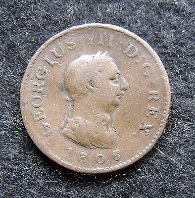 1806 Farthing George III Copper Britiish Coins Coin more pics in description.
