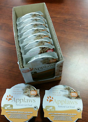 APPLAWS NATURAL CAT FOOD - LUXURY CHICKEN BREAST  with DUCK - 10 x 60g