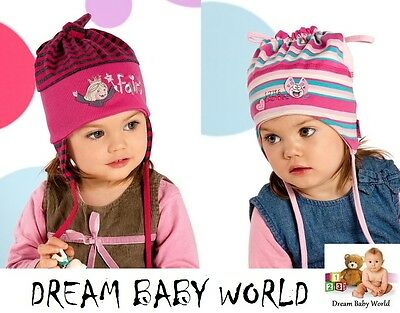 Cotton girls tie up hat SPRING size 9 - 24 months 2 - 3 Years - Baby Girl NEW