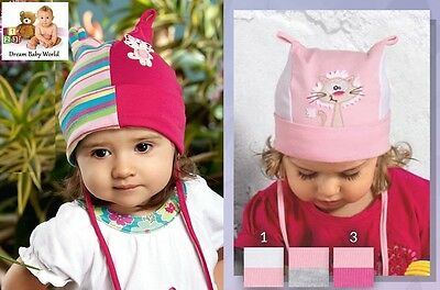 Cotton girls tie up hat SPRING size 0 - 18 months - Baby Girl NEW