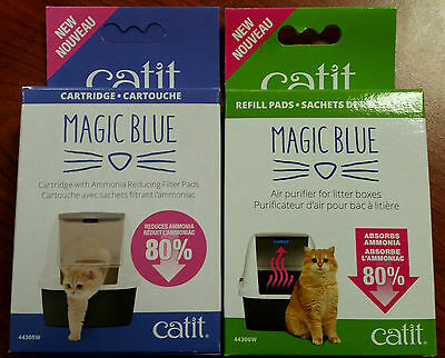 Magic Blue Catit - Cartridge / ammonia reducing filter pads and replacement pads