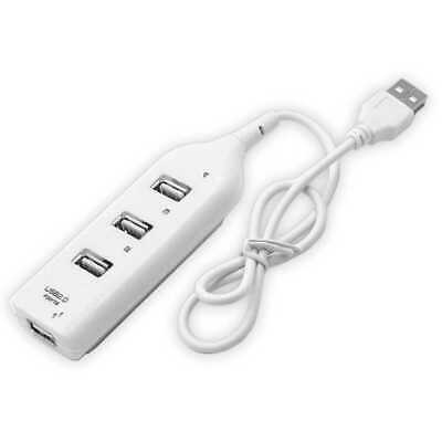 Hub Sdoppiatore 4 Porte USB Multi Porta per Laptop PC Notebook Splitter Bianco