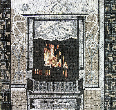 Fireplace Chimney Room Wall Design Home Marble Mosaic GEO1013