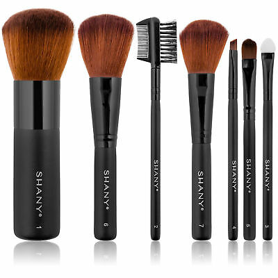 SHANY Studio Quality Goat & Sable Bristles Cosmetic Brush Set, Large Kabuki 7 pc