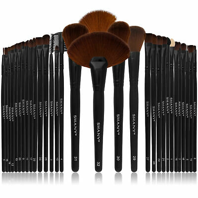 SHANY Professional Brush Set with Faux Leather Pouch, 32 Count Goat & Badger