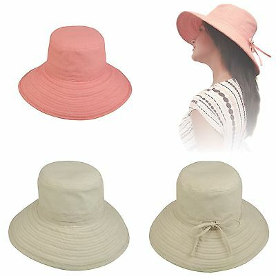 1 Dozen Sun Bucket Hat Hats Caps Ramie Cotton Ribbon Ties Sand Salmon Wholesale