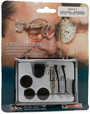 Donegan ELD 2-1 Eyeglass Double Loupe Kit. 5X, 10X or 15X Magnification