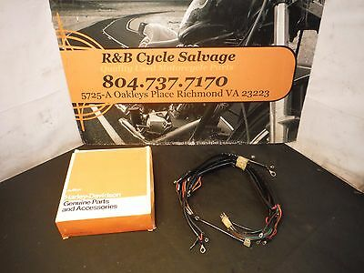 harley davidson softail builders custom main wiring harness color harley davidson nos fx fxe shovelhead main wire wiring harness loom 70343 75