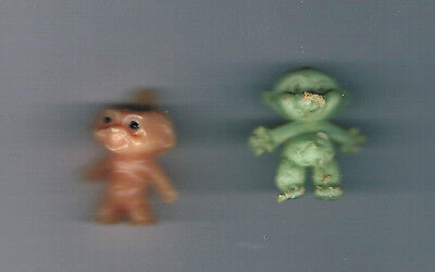 2 Old Gumball,Cracker Jack Prizes Charms TROLLS!  RETRO!