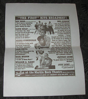 Theatre flyer/ad THE FIRST at Martin Beck Theatre