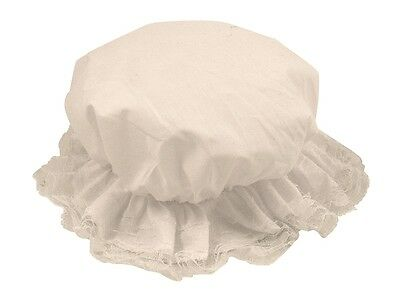 Victorian Mop Cap Hat With White Lace Ladies Womens Fancy Dress  Accessory.