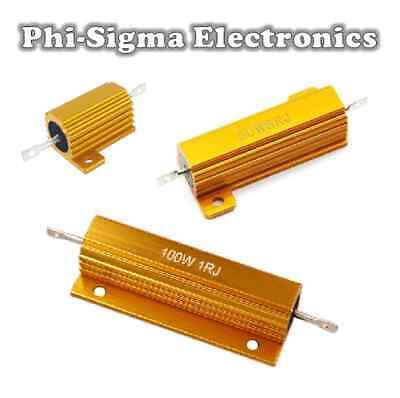 Aluminium Clad Power Resistors 10W, 25W, 50W - Full Range of Values