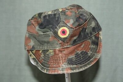 "German Army Flecktarn Wedge Cap  ""surplus item"" 57 cm size"