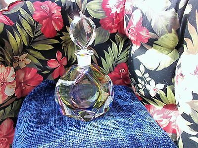Rare Antique/vintage Irice Rainbow  Large Glass Store Display Perfume Bottle