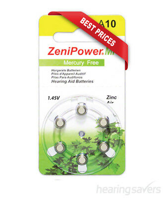 NEW ZeniPower Hearing Aid Batteries A10 (size 10) MF from Hearing Savers