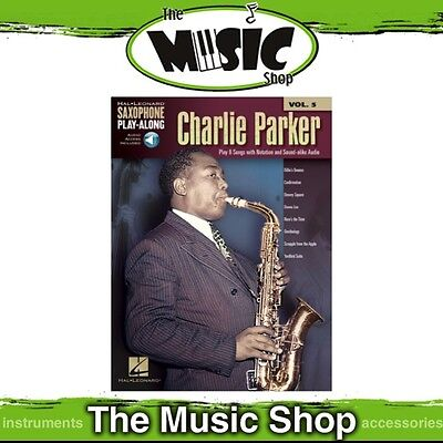 New Charlie Parker Saxophone Play Along Music Book & OLA - Volume 5