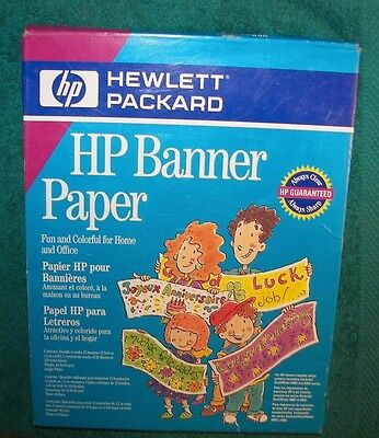 Hp Banner Paper C1820A 100 Total Sheets 15 Printable Giant Banners Inkjet New *