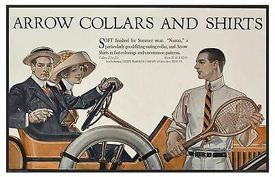 1912 Arrow Shirts and Collars Ad by Leyendecker - 11 x 17