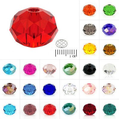 72-150pcs Crystal Loose Beads Czech Rondelle Faceted Necklace Jewelry 4/6/8mm