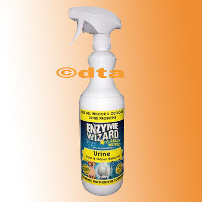 Enzyme Wizard Urine,spot Stain Odor Remover 1L, Carpet & Upholstery Cat Dog Pets
