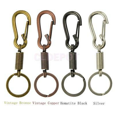 Metal Coil Spring Carabiner Hook Clasp Snap Clip Keychain Key Ring Keyfob Chain