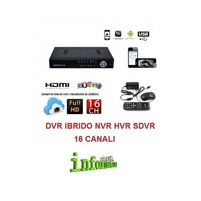 Sdvr Ibrido Dvr 16 Ch Canali Full Hd 960H Cloud 3G Wifi Hd 500 Gb