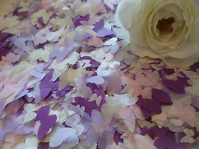 1 Pint of Purple/Lilac/Pink/ Cream and White Tissue Butterfly Wedding/Confetti