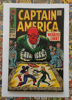 Captain America #103 - Jul 1968 - Red Skull Appearance! - Fn- (5.5) Cents Copy!