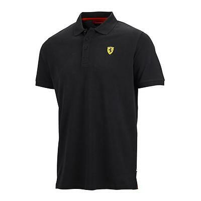 Ferrari Mens Classic Polo Shirt 100% Cotton in Black or Red - Official Licensed