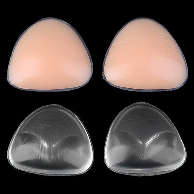 1 Pair Bra Insert Silicone Triangle Breast Enhancer Swimsuit Pushing-up AO