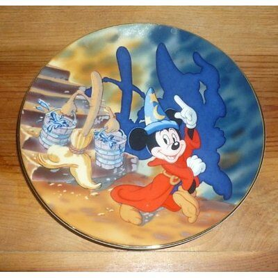 Mickey Mouse Sorcerer's Apprentice Fantasia Plate Very Good