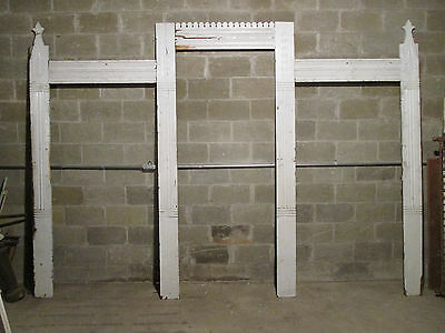 ~ Antique Carved Framework Backbar Bookcase 142.75X100.75 Architectural Salvage