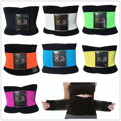 Unisex Xtreme Power Belt Hot Slimming Thermo Shaper Waist Trainer Faja Sport