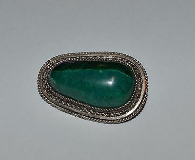 Vintage Sterling Silver And Israel Eilat Stone Pendant Or Brooch