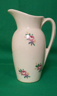 Vintage Royal Copley Pitcher With Red Roses On Sides