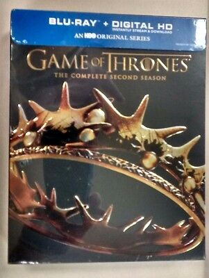Game of Thrones: The Complete Second Season (Blu-ray Disc, 2014, 5-Disc Set) NEW