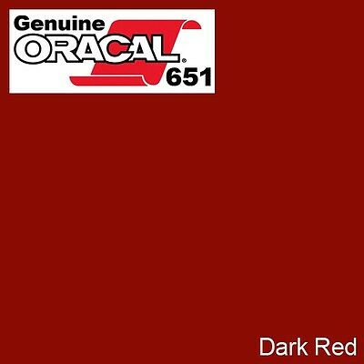 """ORACAL 651 Dark Red Gloss Vinyl Wrap Film 12"""" x 5ft Roll Solvent-Based Adhesive"""