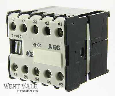 AEG SH04-910-302-051-00 -16a 40E 4 Pole Mini Control Relay 24dc Coil Un-used