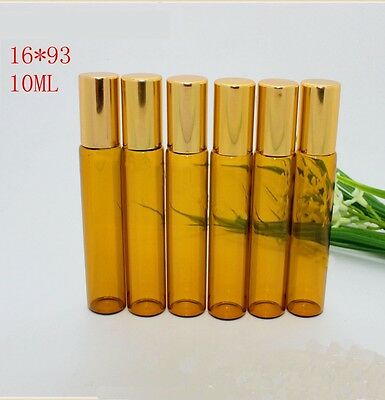 10 Pcs NEW Lot Small 10ML Empty Perfume Roll On Class Roller  Ball Glass Bottle