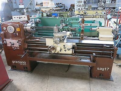 Excellent Graziano Tortona SAG17 Lathe 17x60 with Taper & Aloris