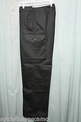 "Canadian Forces Style Black Tactical Combat BDU Pants / Sizes 28"" waist"