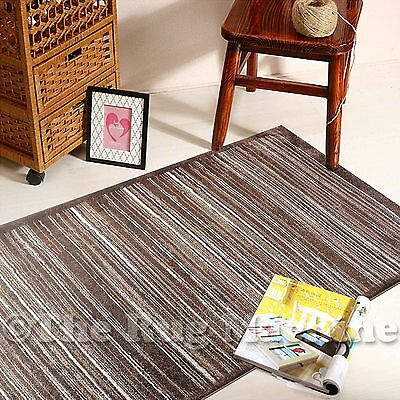BOSTON BEIGE BROWN STRIPES LINES DESIGN MODERN FLOOR RUG RUNNER 80x300cm **NEW**