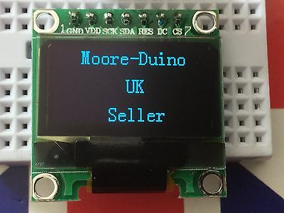 "Blue SPI 128X64 OLED LCD LED Display Module For Arduino 0.96"" Serial UK New"