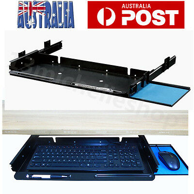 Underdesk Keyboard Drawer Tray with Slider Runner Kit for Home & Office Steel AU