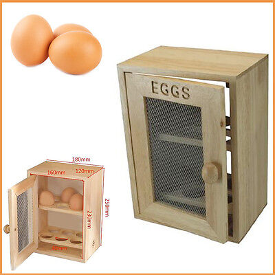 Apollo Egg Cabinet 12 Eggs Storage Mesh Wooden Tray House Kitchen Rack Cupboard