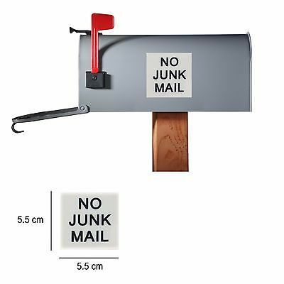 NO JUNK MAIL Sticker Sign Self Adhesive Plastic Stick Addressed Letter Mail Only