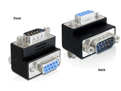 Delock Adapter Sub-D 9 pin male > female 90° angled for difficult to access port