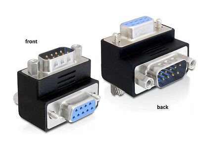 Delock Adapter Sub-D 9 pin male > female 270°angled for difficult to access port