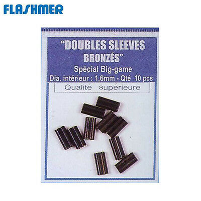 10 SLEEVES DE PECHE FLASHMER DOUBLES Modèle : 2.0 MM