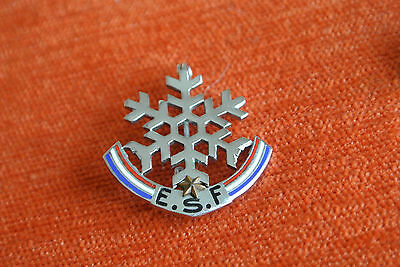 13736 PIN'S PINS BROCHE BROOCH SKI ETOILE 70's MONTEREAU PARIS